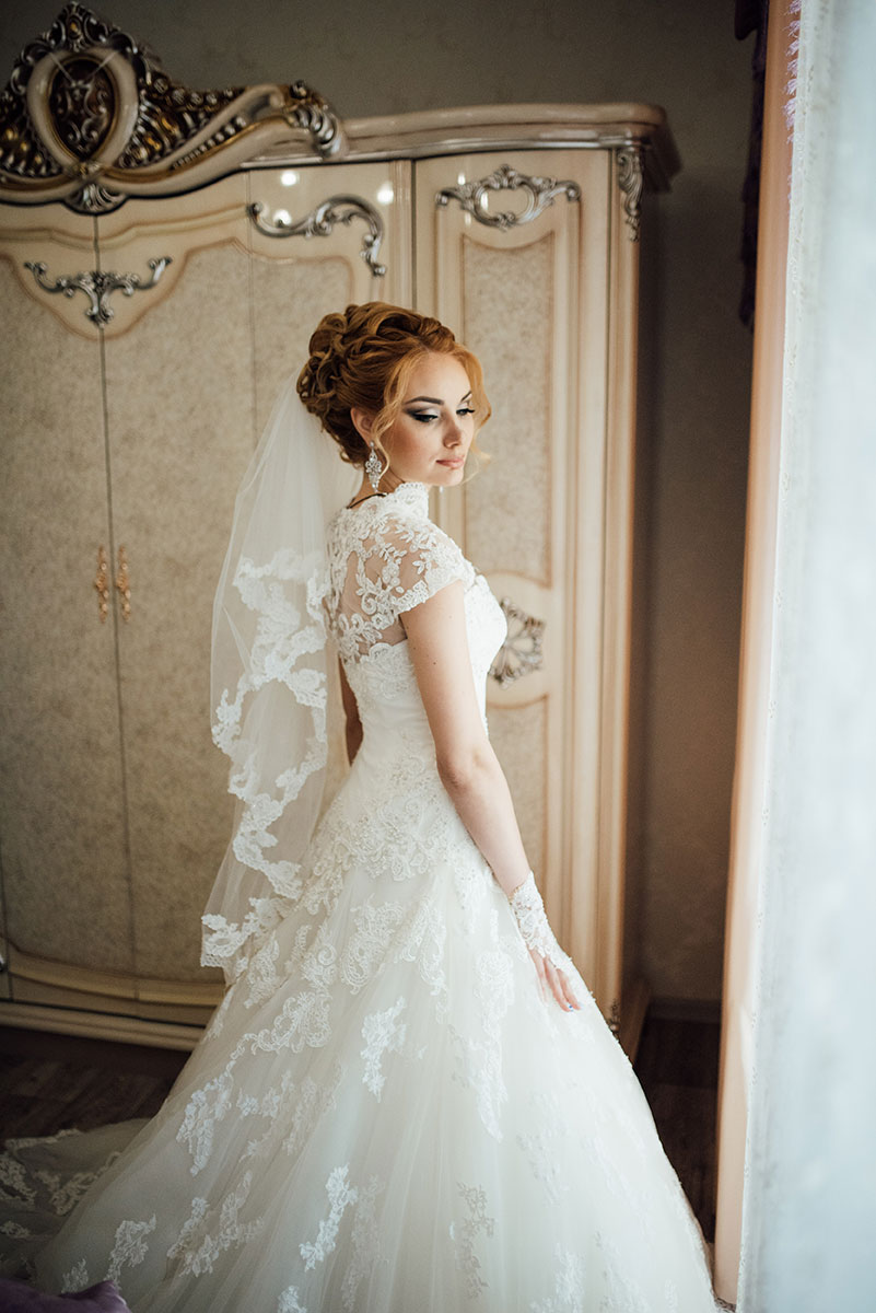 Scalloped Lace Embroidery Beaded